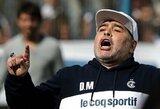 """D.Maradona prisiėmė nuopelnus dėl L.Messi taiklumo: """"Aš jį išmokiau mušti įvarčius"""""""