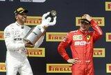 """Nykiose Prancūzijos GP lenktynėse – """"Mercedes"""" dublis ir S.Vettelio atimtas taškas iš L.Hamiltono"""