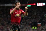 """""""Manchester United"""" pergalė: raudona varžovų kortelė, R.Lukaku įvartis po 997 minučių pertraukos ir J.Matos pasiekimas"""