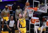 """D.Sabonis prieš """"Lakers"""" buvo arti trigubo dublio"""