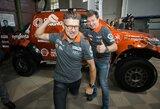 Oficialiai pristatyta A.Juknevičiaus komanda ir Dakaro automobilis