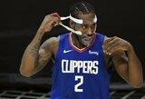 """Po traumos su kauke grįžęs K.Leonardas vedė """"Clippers"""" į pergalę"""