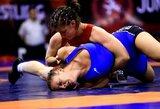 D.Domikaitytei pasaulio imtynių čempionate nepavyko įveikti tituluotų varžovių
