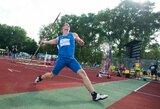 Liūdnos naujienos: prieš pat pasaulio čempionatą lūžo rekordinė E.Matusevičiaus ietis