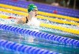 K.Teterevkovą nuo Europos jaunimo plaukimo čempionato finalo skyrė 0.01 sek.