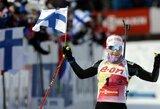 K.Makarainen pasaulio biatlono taurės etape Suomijoje liko nenugalėta