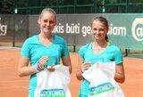 Jaunių teniso turnyre Estijoje – P.Bakaitės ir G.Zykutės triumfas