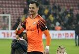 Izraelio taurės rungtynėse E.Šetkus įvarčio nepraleido, M.Vorobjovas Rumunijoje žaidė 90 minučių