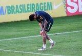 Neymaras dėl traumos praleido dar vieną Brazilijos rinktinės treniruotę