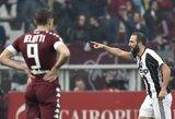 """Šaltakraujiškai žaidęs G.Higuainas padėjo """"Juventus"""" laimėti derbio rungtynes"""