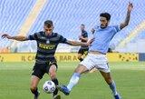 """Italijoje – dvi raudonos kortelės ir """"Inter"""" lygiosios su """"Lazio"""""""