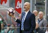 """""""Inter"""" atmetė S.Pioli prašymą atleisti jį iš trenerio pareigų"""