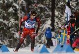 Biatlono lenktynėse Norvegijoje V.Strolia tarp savo grupės sportininkų – 6-as