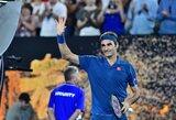"R.Federeris vos per pusantros valandos prasibrovė į ""Australian Open"" aštuntfinalį"