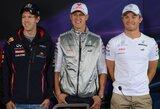 """N.Rosbergas ir S.Vettelis: """"M.Schumacherio pasitraukimas – didelė netektis"""""""