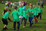 """Pavasarinis """"Futboliukas"""" Marijampolėje įtraukė vaikus ir tėvelius"""