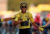 """Jauniausias čempionas per 110 metų: E.Bernalis įsirašė į """"Tour de France"""" istoriją"""