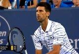 R.Federerio pasiekimą pakartojęs N.Djokovičius Sinsinatyje žengė į pusfinalį