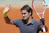 """N.Djokovičius ir R.Federeris sėkmingai įveikė pirmąjį """"Roland Garros"""" turnyro ratą"""