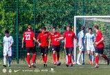 """Pamatykite: įvarčių lietumi virtusiose rungtynėse – 15-mečio dramatiškai išplėšta FK """"Vilniaus"""" pergalė"""