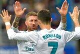 """""""Real"""" kapitonas S.Ramosas įspėjo C.Ronaldo dėl jo pasakytų žodžių"""
