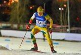 K.Dombrovskis pateko į pasaulio biatlono taurės persekiojimo lenktynes (komentarai)