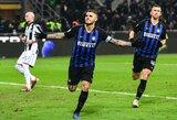 """Italija: M.Icardi įvartis lėmė """"Inter"""" pergalę prieš """"Udinese"""""""