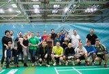 Sporto žurnalistų badmintono varžybas laimėjo komentatorius