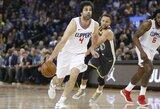 """Puikaus graiko žaidimo nepakako – M.Teodosičiaus tritaškiai padėjo """"Clippers"""" iškovoti reikalingą pergalę"""