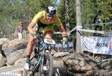 Pasaulio kalnų dviračių taurės etape K.Sosna buvo aplenkta ratu
