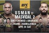 UFC nusprendė rizikuoti: kito mėnesio turnyras vyks sausakimšoje arenoje