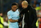"""R.Sterlingas atskleidė, ką pasakė P.Guardiola po to, kai """"Man City"""" baigė savo pasirodymą Čempionų lygoje"""