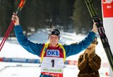 Vyrų bendro starto biatlono lenktynes Slovėnijoje laimėjo B.Ferry