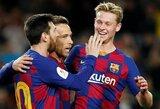 """""""Barcelona"""" klubo žaidėjas: """"L.Messi vis dar yra komandos pokalbių grupėje, tačiau apie jo išėjimą mes nekalbame"""""""