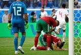 Paskutinę minutę į savo vartus įsimušęs Marokas padovanojo pergalę Iranui