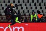 """Čempionų lyga: Serbijoje pergalę iškovojęs PSG klubas tapo C grupės nugalėtoju, """"Atletico"""" susitikimą su """"Club Brugge"""" baigė lygiosiomis, tačiau pateko į kitą etapą"""