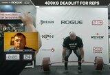 """Paskutiniame """"World's Ultimate Strongman"""" renginyje – per didelis štangos svoris ir nepagerintas rekordas"""