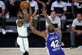 """Rungtynių pabaigoje spurtavusi """"Celtics"""" įsirašė trečiąją pergalę"""