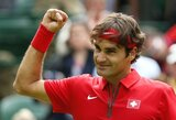 R.Federeris be didesnio vargo iškopė į trečiąjį olimpinio teniso turnyro ratą