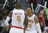 """""""Hawks"""" pirmajame kėlinyje nokautavo """"Wizards"""" komandą"""