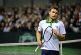ATP geriausių tenisininkų reitinge L.Grigelis prarado dvi pozicijas