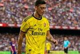 """Dėl saugumo problemų pirmus du turus Anglijoje praleidęs M.Ozilas sugrįžo į """"Arsenal"""" treniruotes"""
