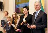 Lietuvos Respublikos Prezidentas G.Nausėda apdovanojo mokyklų žaidynių nugalėtojus