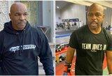 """45 kg numetęs M.Tysonas atskleidė savo paslaptį, G.Foremanas jo sprendimą grįžti pavadino """"laikina beprotybe"""""""