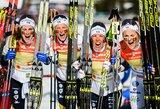 """T.Johaug pastangų neužteko – C.Kalla ir S.Nilsson """"nukalė"""" auksą Švedijos slidinėjimo rinktinei"""