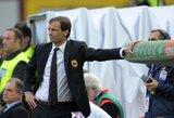 """M.Allegri: """"Juventus"""" nėra nenugalimas klubas"""""""