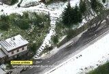 """""""Tour de France"""" drama: etapas sustabdytas dėl krušos ir nuošliaužų, pasikeitė bendros įskaitos lyderis (papildyta)"""