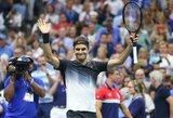 """Į """"US Open"""" ketvirtfinalį patekęs R.Federeris sulaukė progos atsirevanšuoti J.M.Del Potro už skaudų pralaimėjimą 2009 m. finale"""