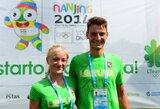 R.Maščinsko pėdomis: S.Petrikaitė ir A.Lapatiukas išvyksta į jaunimo olimpines žaidynes