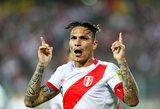 Dopingą vartojęs Peru rinktinės kapitonas praleis pasaulio čempionatą